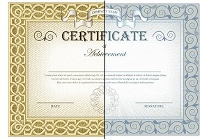Vintage Certificates and elementes