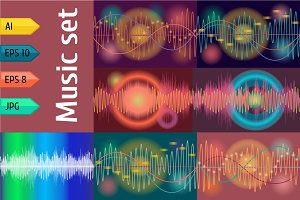 Vector music volume background.