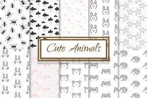 Black and White Baby Animal patterns