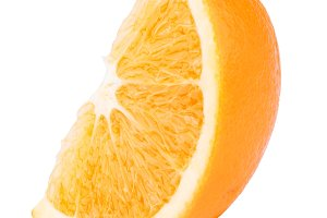 Slice of orange citrus isolated