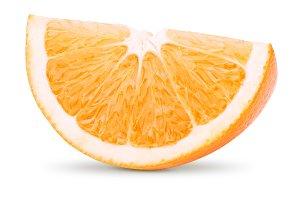 Slice of orange citrus