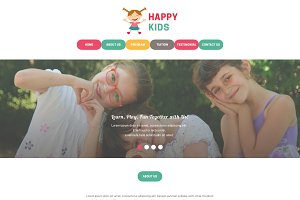 Daycare PSD Website Template