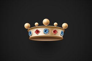 Icon of gold royal crown
