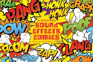Comics sound effects set1