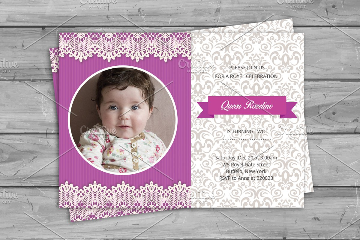 Birthday Invitation Card V273 Flyer Templates Creative Market