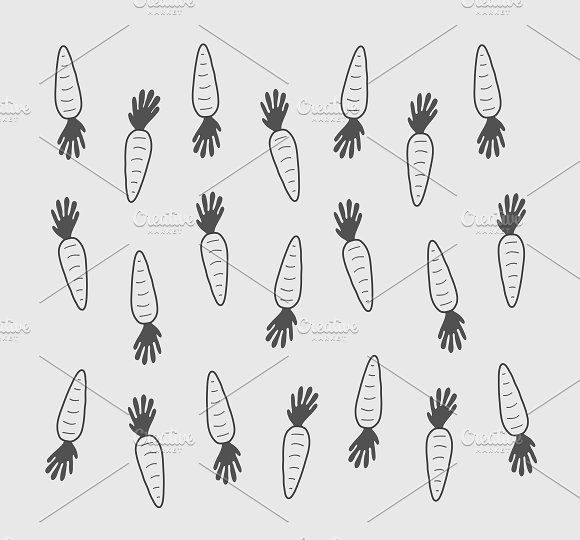 Carrots silhouettes pattern