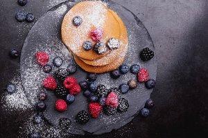 Pancakes on Slate Board