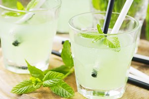 Green cocktail, square image