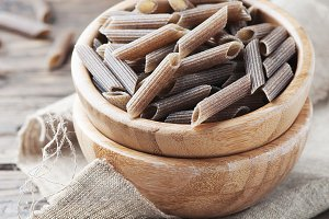 Buckwheat pasta, square image