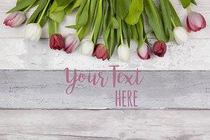 Floral Desktop Mockup Tulips