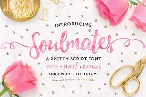 Soulmates Script Typeface + EXTRAS!