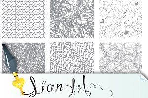 seamless patterns in grunge style
