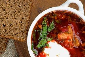 Traditional Soup Borscht
