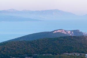 Lefkada coast panorama
