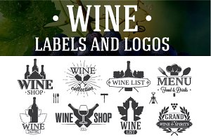 12 Wine Labels and Logos