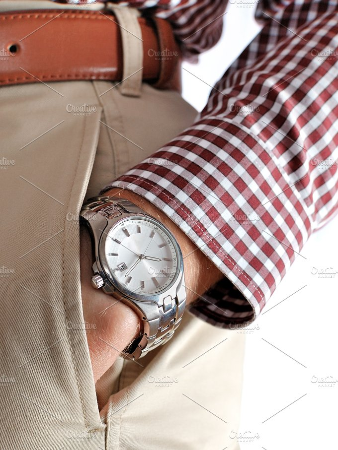 Wrist watch on hand ~ People Photos ~ Creative Market