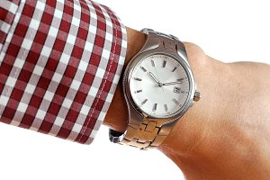 Wrist watch on hand