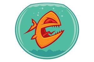 Angry Goldfish Cartoon