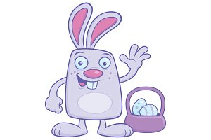 Silly Cartoon Easter Bunny