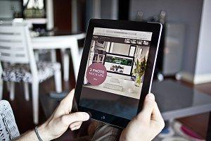 House around iPad photo