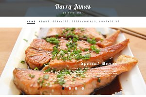 Private Chef PSD Website Template