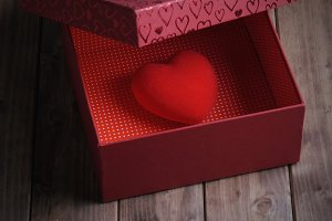 Heart in a gift box