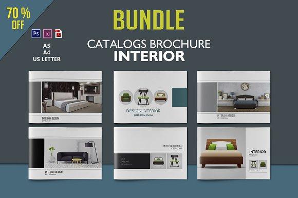 Interior Design Brochure Bundle Brochure Templates on Creative – Interior Design Brochure Template