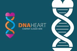 Dna Heart Logo