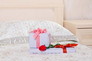 gifts and a rose