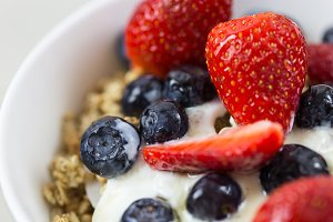 Yogurt Cereal Fruit Breakfast