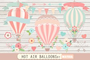 HOT AIR BALLOONS clipart