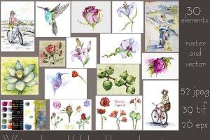 Bundle offer of watercolors
