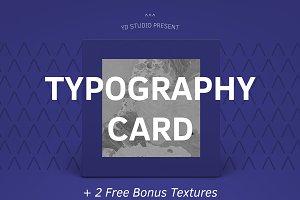 TYPOGRAPHY CARD (+ 2 FREE BONUS)