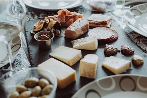 Charcuterie Board with meat & cheese