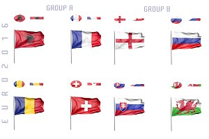 Euro 2016 animated flags