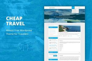 Cheap Travel - Cheap WordPress Theme
