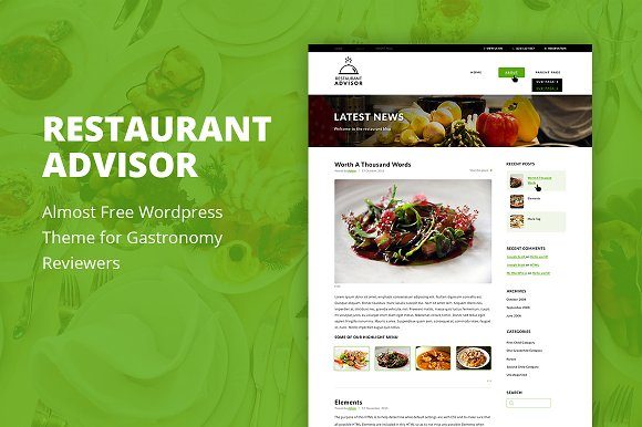 Restaurant Advisor - WordPress Theme