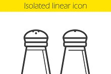 Salt and pepper shakers icon. Vector