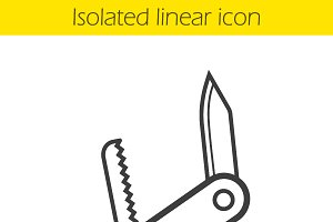 Pocket knife icon. Vector