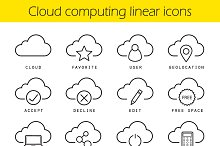 Cloud computing icons. Vector