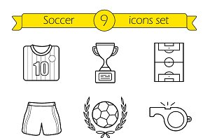 Soccer icons. Vector