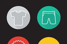 Sportswear icons. Vector