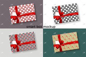 Smart Gift Box Mockup. Top view