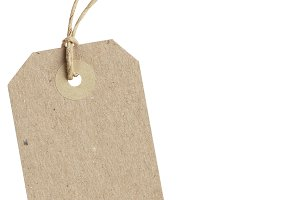brown paper price tag
