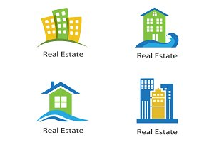 set of logos of real estate