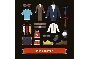 Men's fashion colourful set