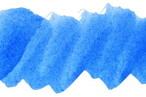 Blue watercolor abstract paint