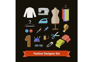 Fashion designer tools and materials