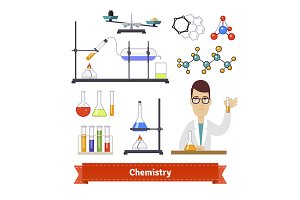 Chemistry equipment and chemist set