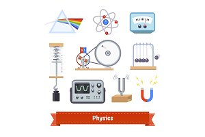 Physics classroom equipment set